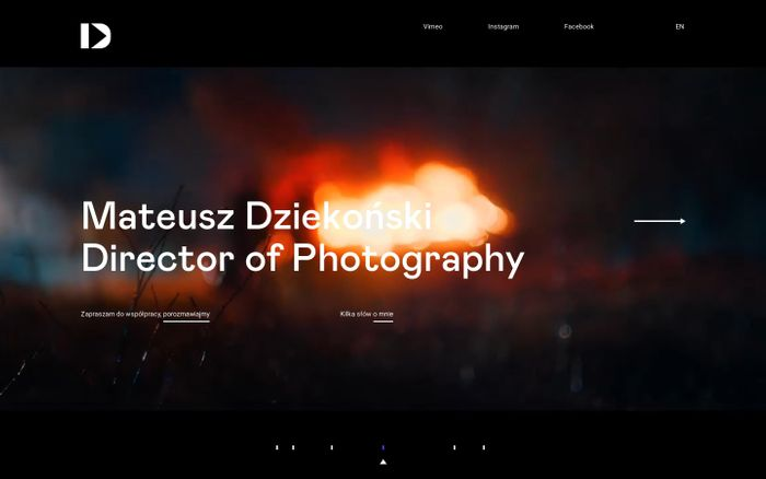 Screenshot of Mateusz Dziekonski | Director of Photography