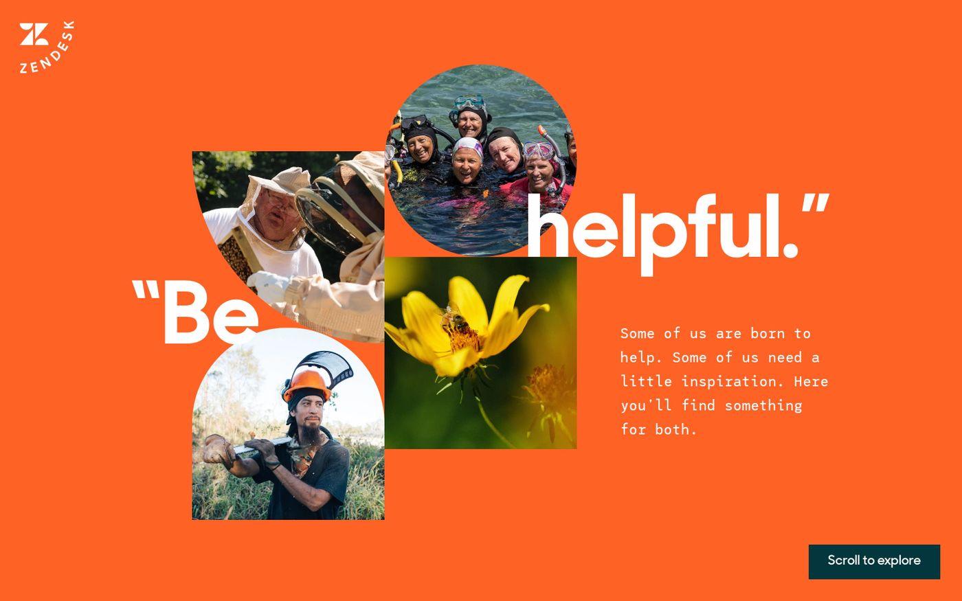 Screenshot of Zendesk helpers website