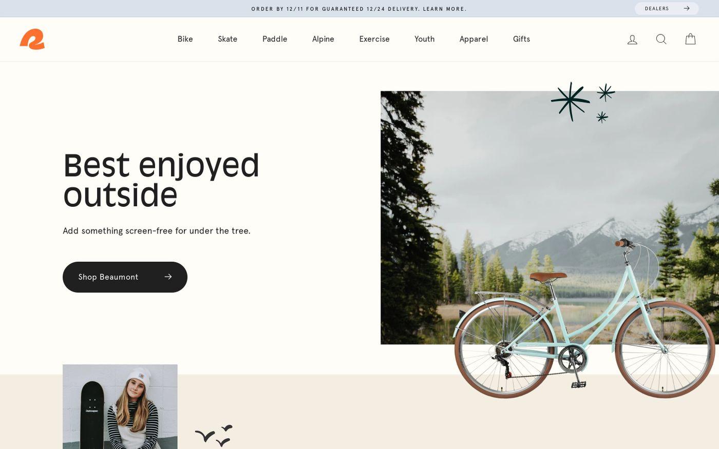 Screenshot of Retrospec website
