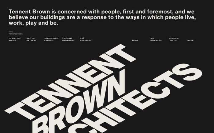 Screenshot of Tennent Brown Architects
