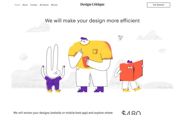 Screenshot of Design Critique - We will make your design more efficient