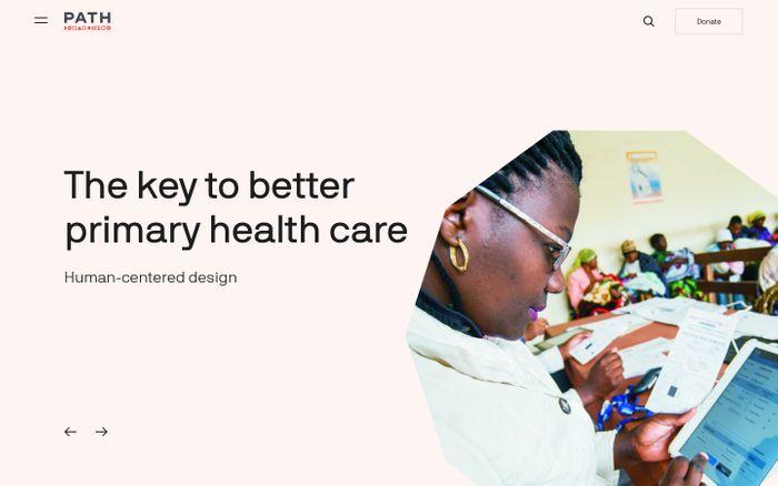 Screenshot of Better health moves humanity forward   PATH