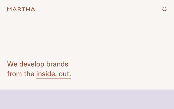 Screenshot of Martha website