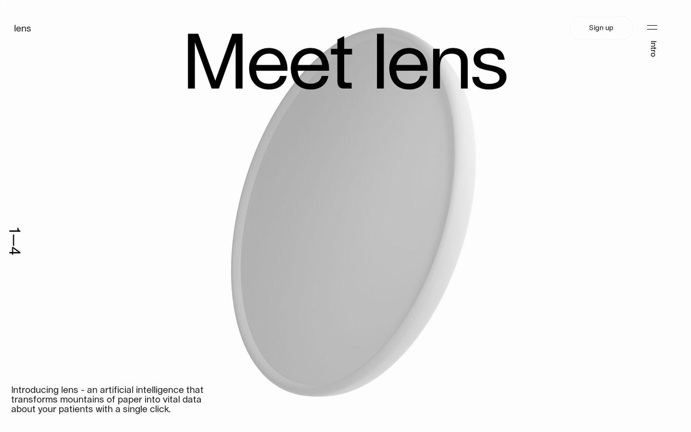 Screenshot of Lens by Science website