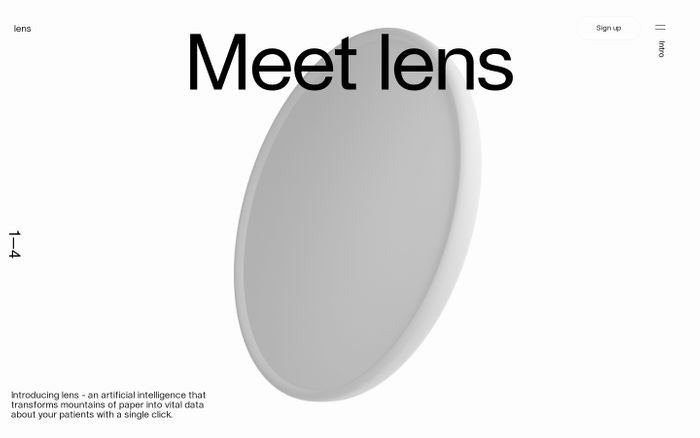 Screenshot of Lens by Science website