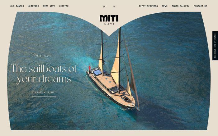 Screenshot of Miti Navi website