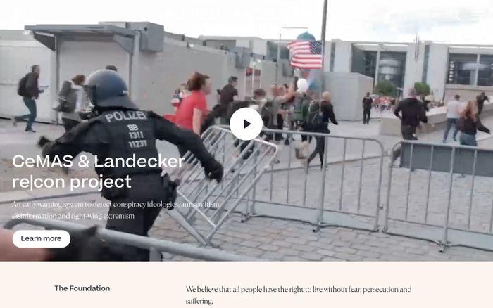 Screenshot of Alfred Landecker foundation website