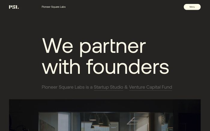 Screenshot of Pioneer Square Labs website