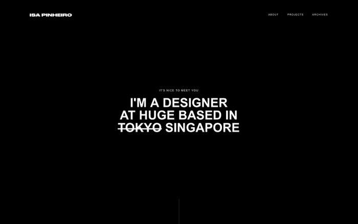 Screenshot of Isa Pinheiro - Design & Illustration