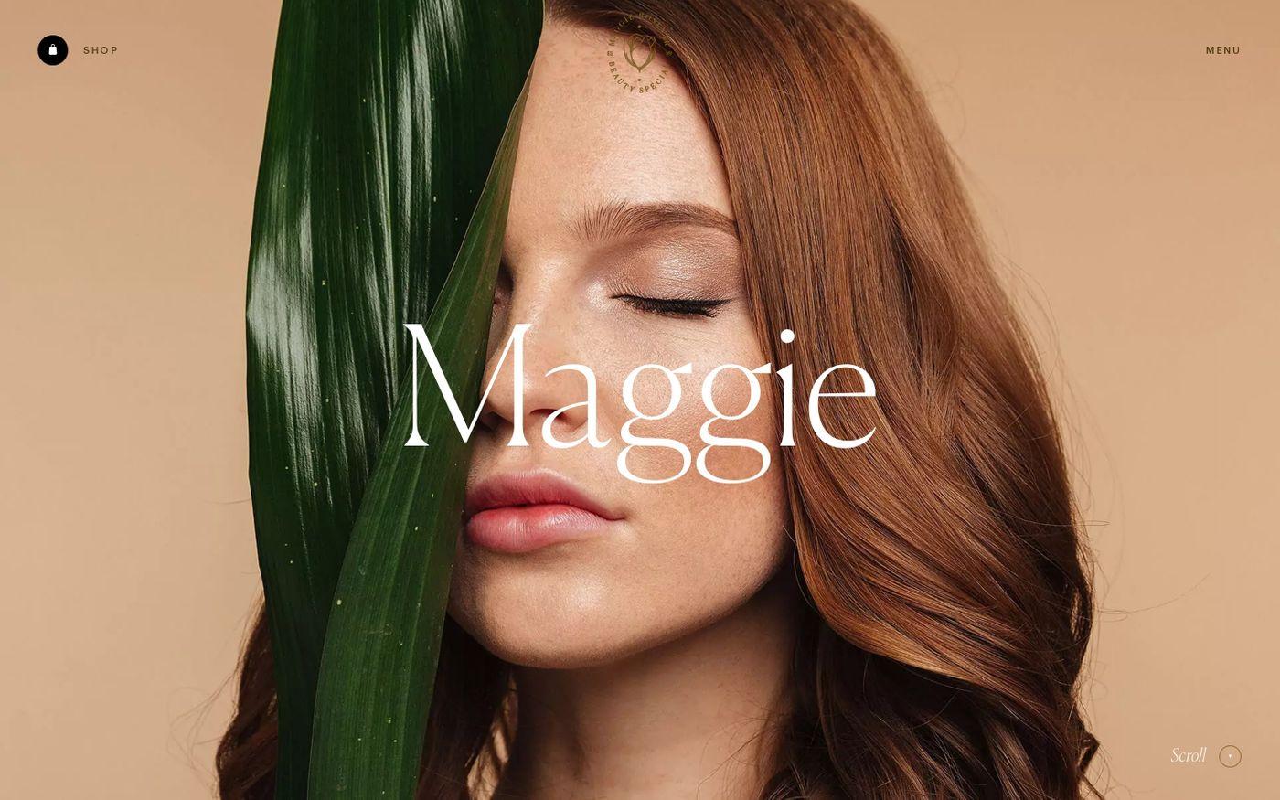 Screenshot of Maggie Rose website