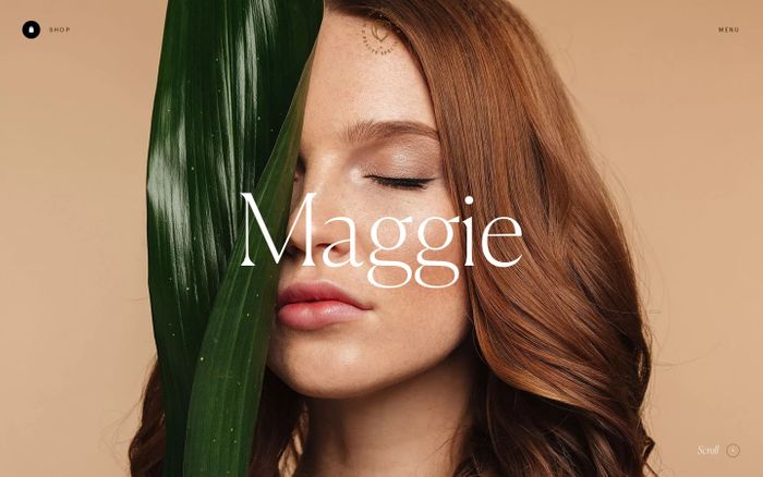 Screenshot of Maggie Rose website