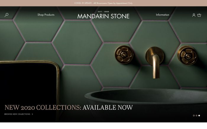 Screenshot of Mandarin Stone website