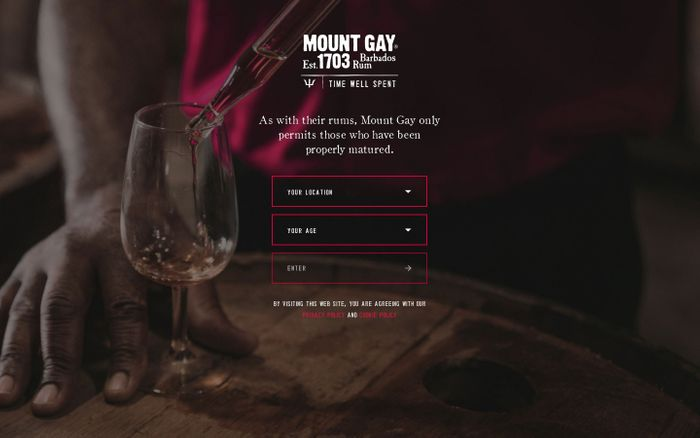 Screenshot of Mount Gay Rum
