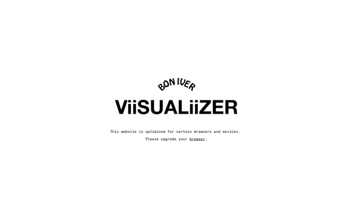 Screenshot of ViiSUALiiZER website