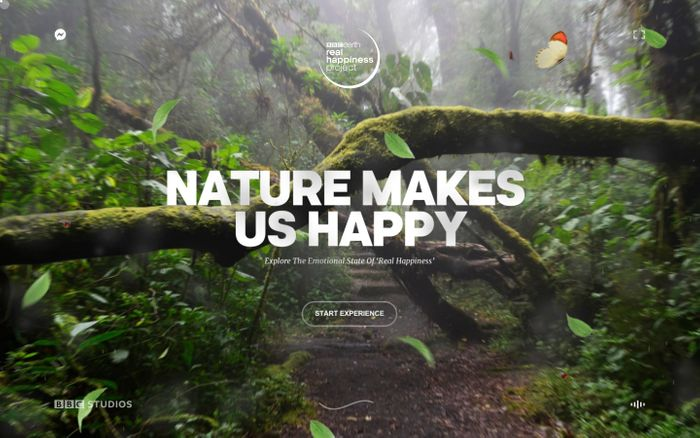 Screenshot of Real Happiness Project from BBC Earth