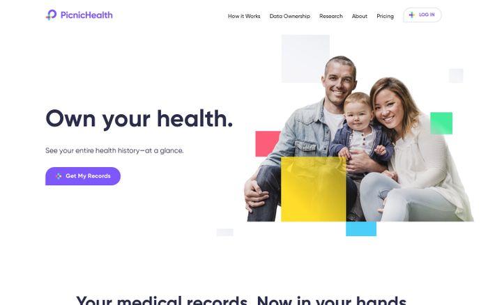 Screenshot of PicnicHealth | Own your health. Advance medicine.