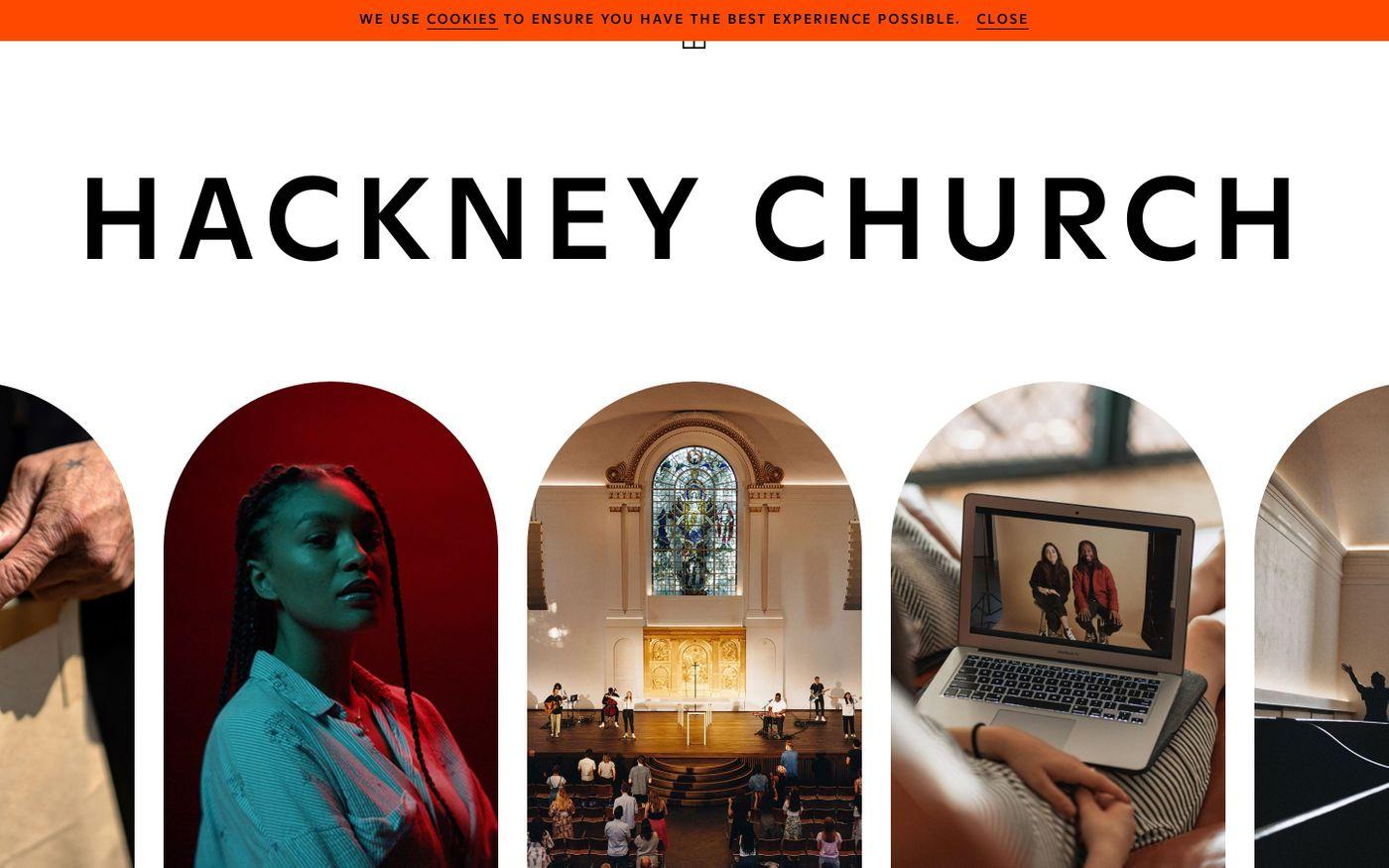 Screenshot of Hackney Church website