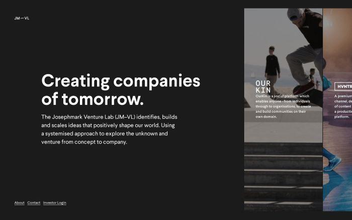 Screenshot of Josephmark Venture Lab