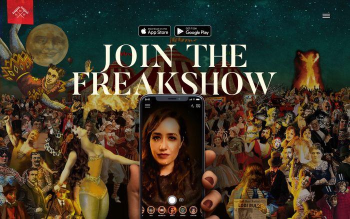 Screenshot of Freakshow Maskerade | Michael David Winery
