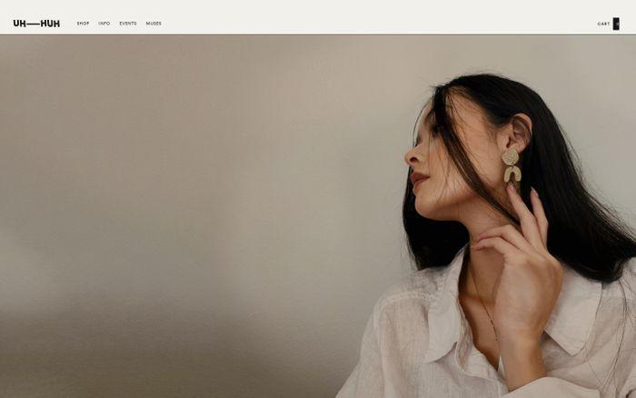 Screenshot of Uh–Huh website