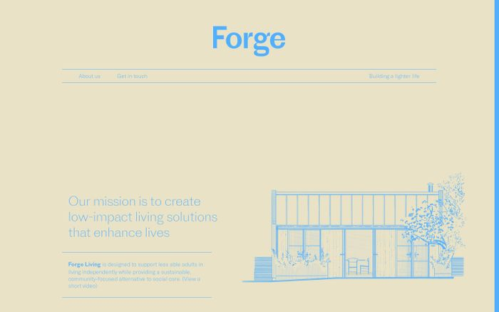 Screenshot of Forge | Building a lighter life