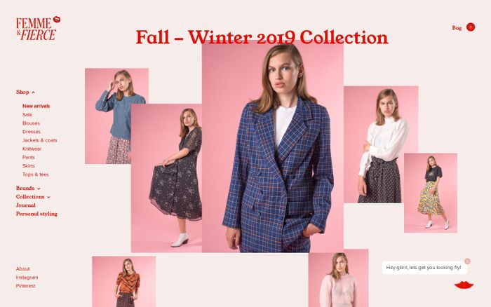 Screenshot of Scandinavian Fashion Webshop | Femme & Fierce