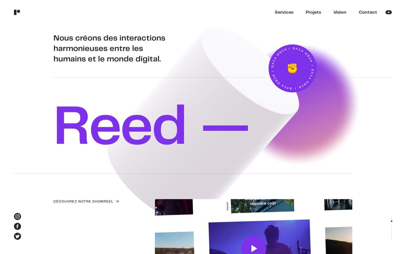 Screenshot of Reed website