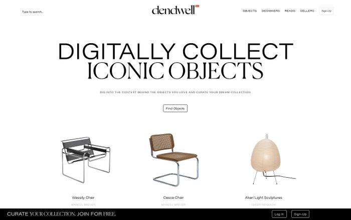 Screenshot of Dendwell website