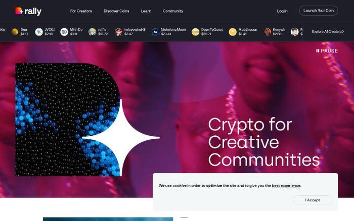 Screenshot of Rally website