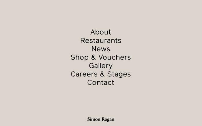 Screenshot of Simon Rogan | Home