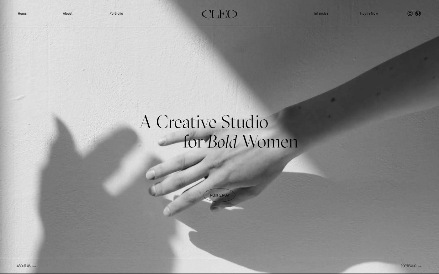 Screenshot of Studio Cleo website
