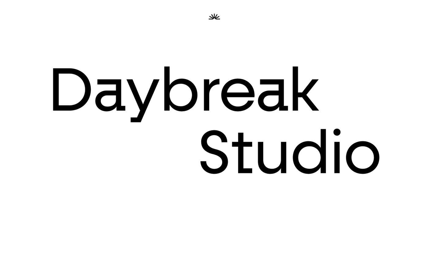 Screenshot of Daybreak website