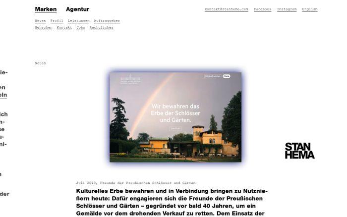 Screenshot of Agentur / Stan Hema, Agentur für Markenentwicklung – Berlin