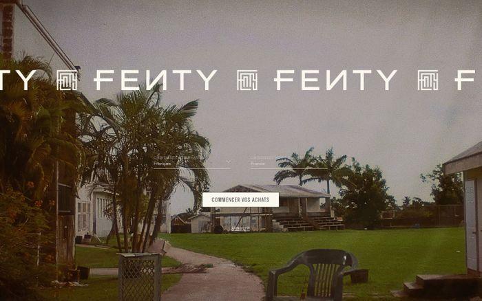 Screenshot of FENTY Site Officiel | Prêt-à-porter, chaussures, bijoux, accessoires
