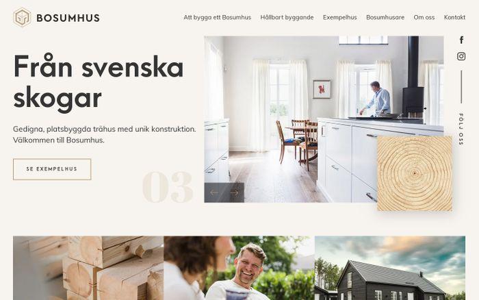 Screenshot of Bosumhus - Från svenska skogar