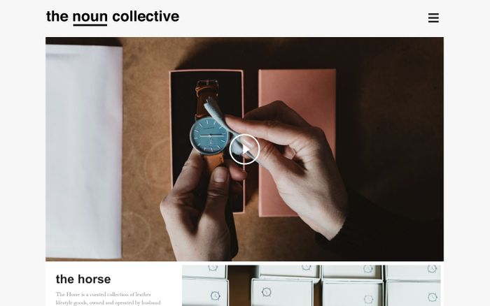 Screenshot of the noun collective | a visual journey of people and places