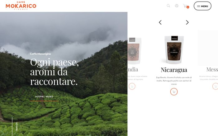 Screenshot of Vendita Capsule Caffè, Cialde, Macinato | Caffè Mokarico Firenze