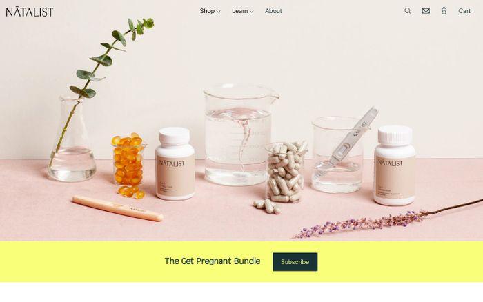 Screenshot of Natalist website