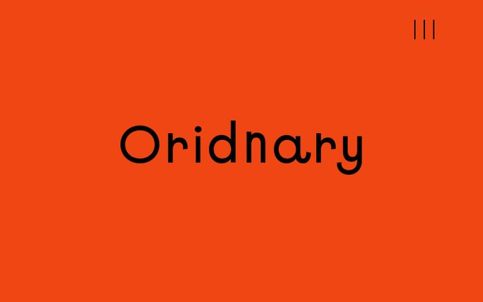 Screenshot of Oridnary website