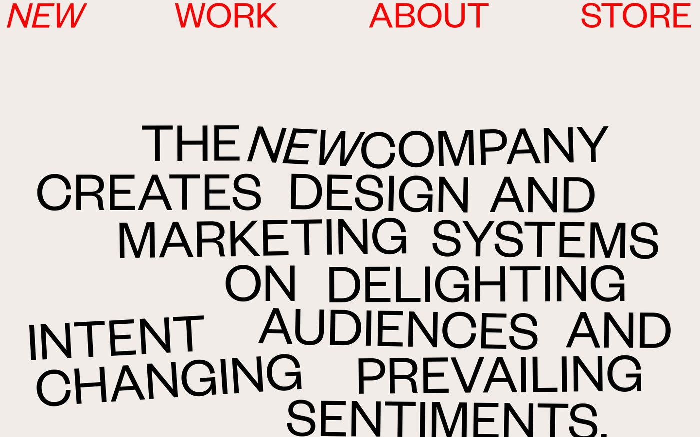 Screenshot of The new company website
