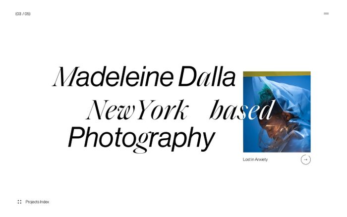 Screenshot of Madeleine Dalla website