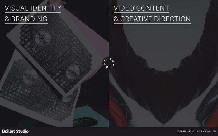 Screenshot of Studio Baillat