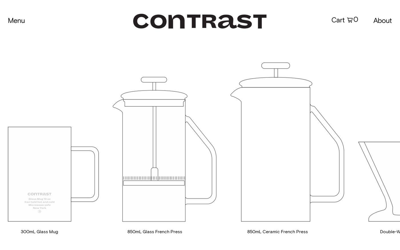 Screenshot of Contrast website