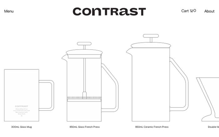 Screenshot of Contrast website