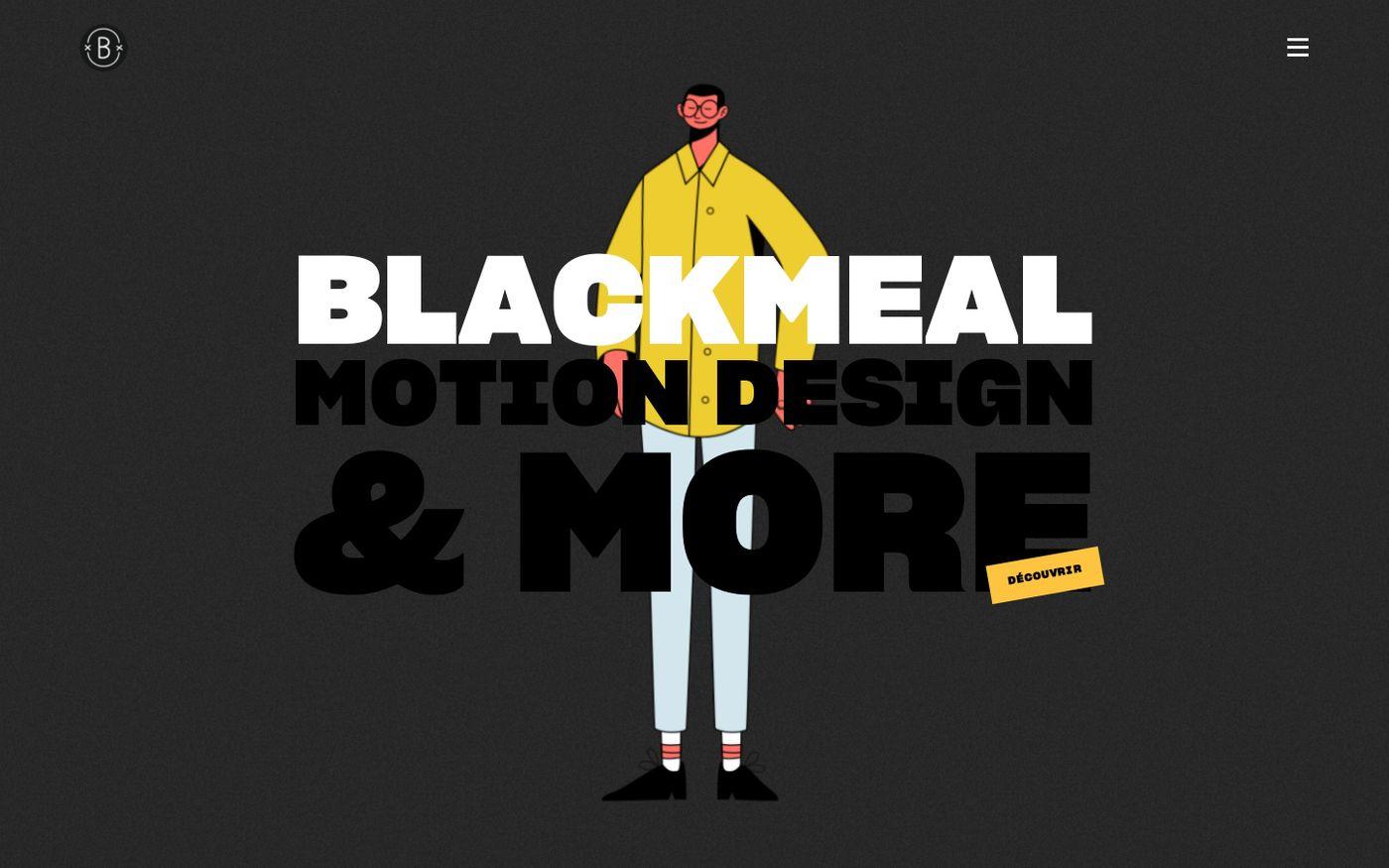 Screenshot of Blackmeal website