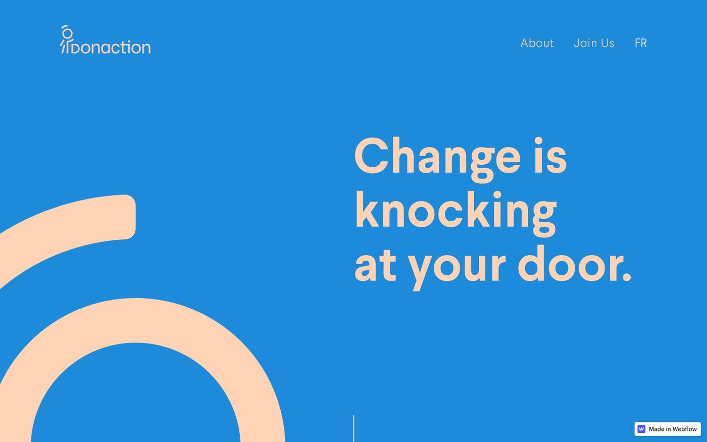 Screenshot of Donaction website