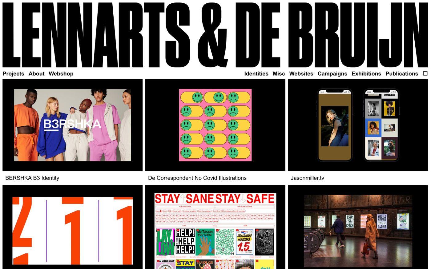 Screenshot of Studio Lennarts & de Bruijn website