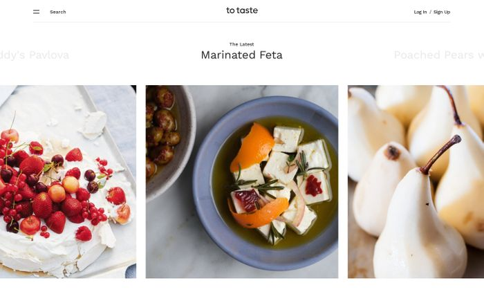 Screenshot of To Taste | A modern-day recipe box