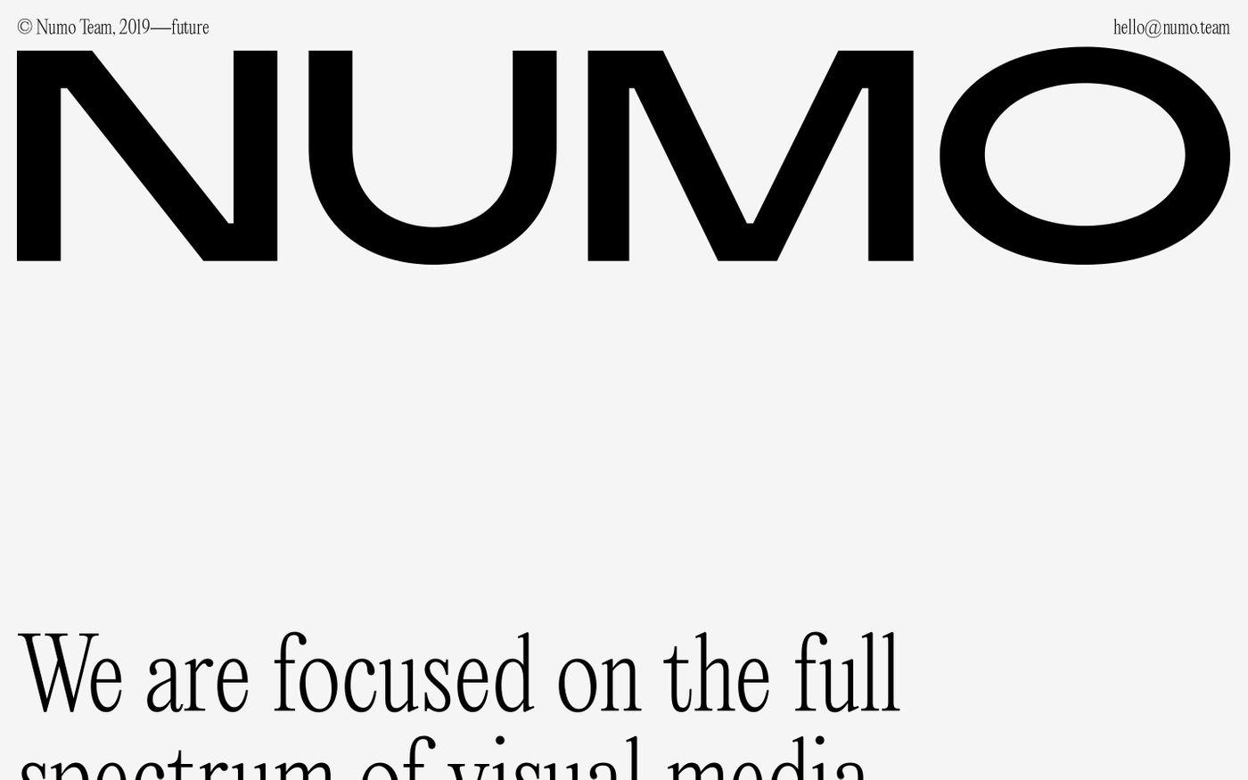 Screenshot of Numo Team website