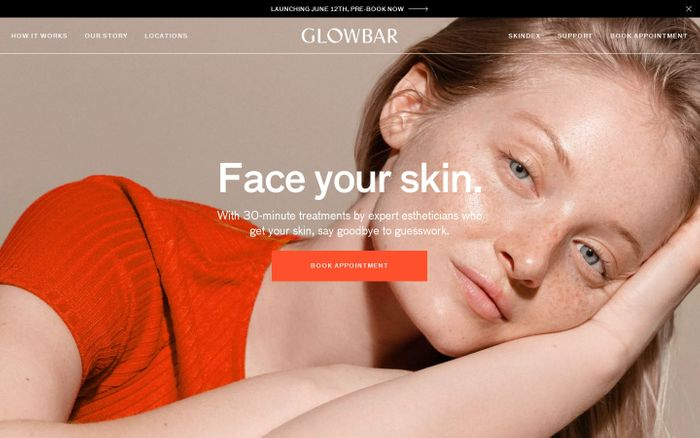 Screenshot of Glowbar | Face Your Skin in 30 Minutes
